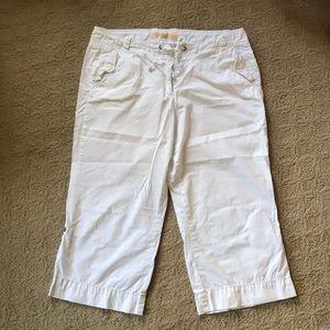 J Crew white capris, size 12